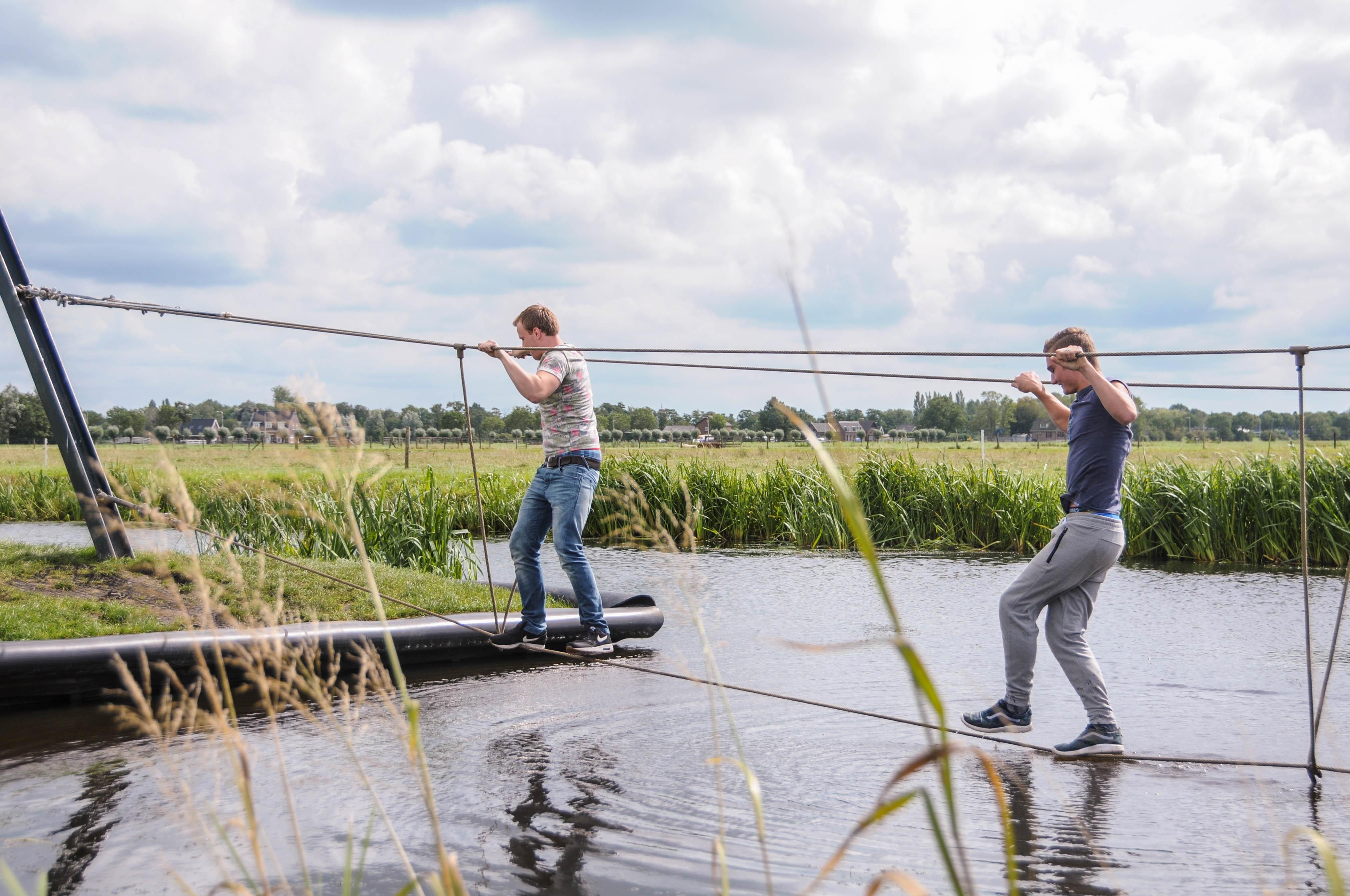 Poldersporten tijdens een schoolreisje | Boerderij de Boerinn