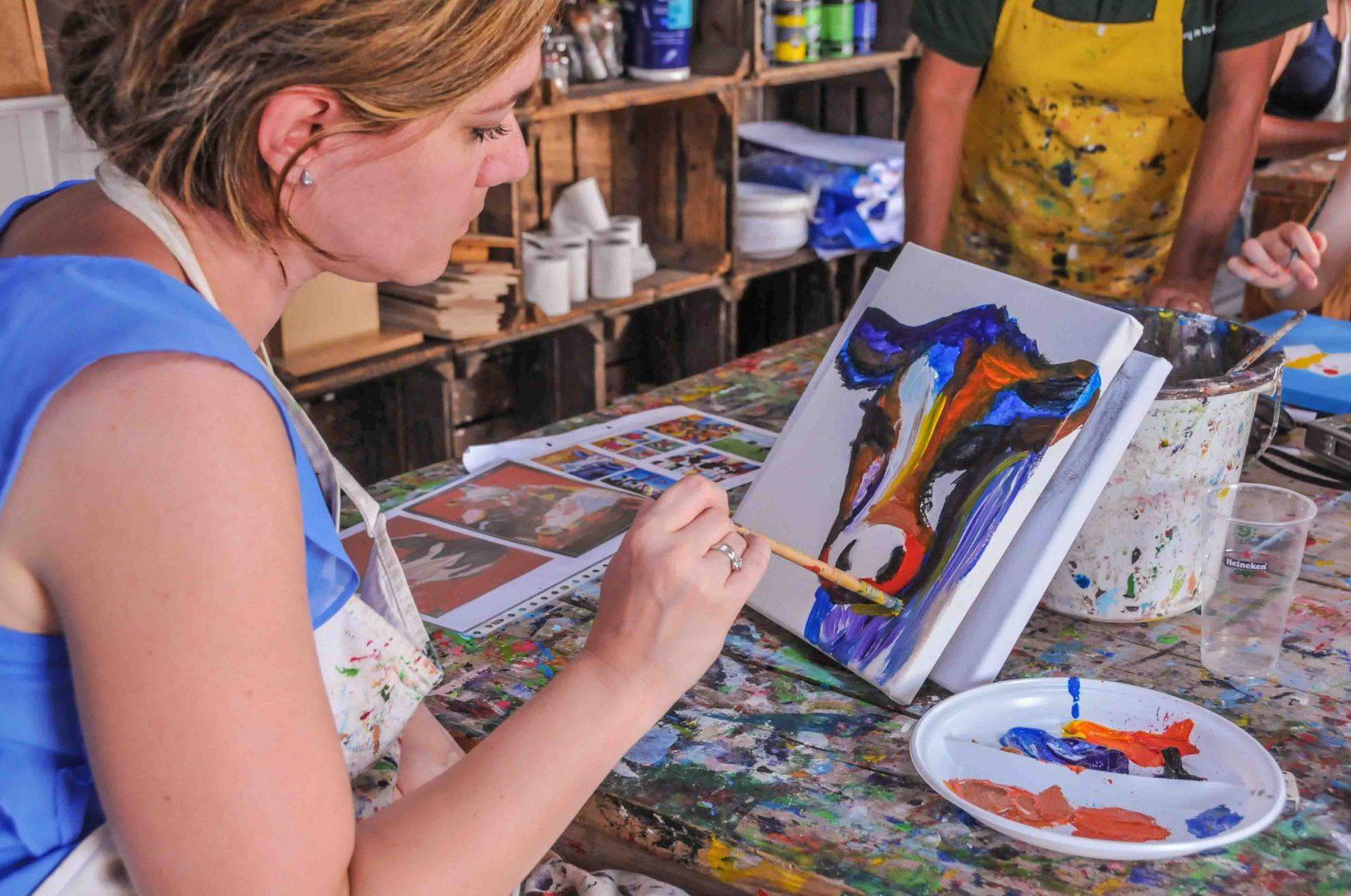 Doek schilderen