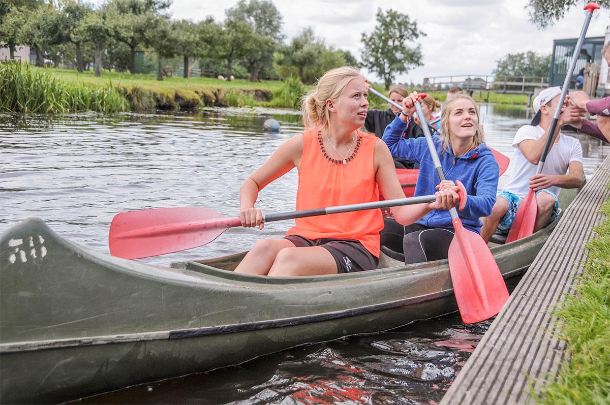 Kano varen studenten | Boerderij de Boerinn